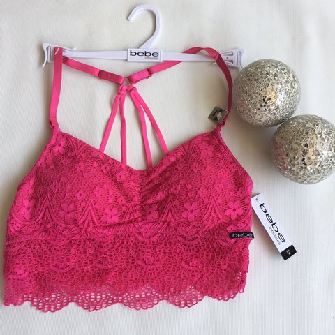 5e21d4226a79a Bebe Hot Pink Bralette NEW Retails for  30 Free US Shipping - Depop