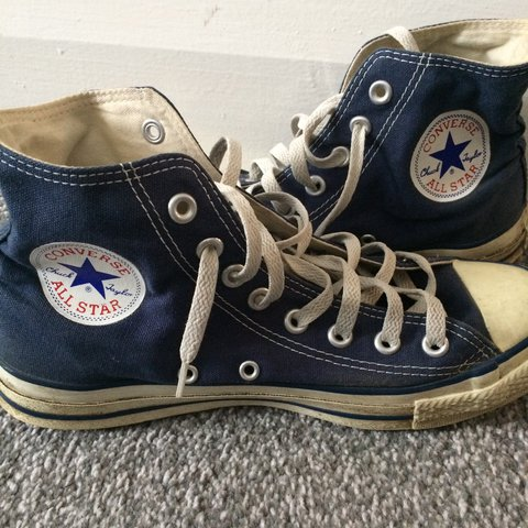 245ab45b35d For sale size 7 (uk) Navy converse baseball boots. Not in a - Depop