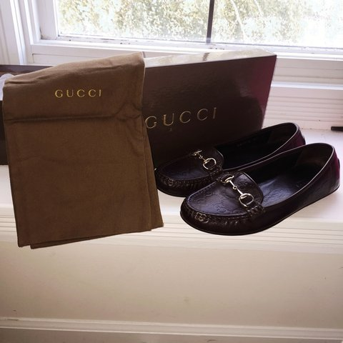 98a6a217833 Gucci  Moca Pelle S Gomma Chocolat -- Women s Loafer in the - Depop