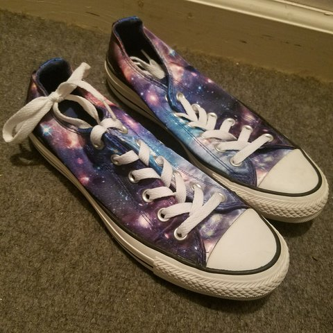 daf5c5023f2e33 New converse galaxy shoes!! worn only once! not really my - Depop