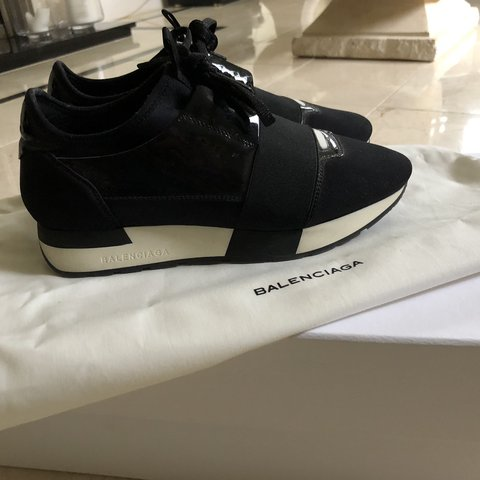 710e9e037aba Balenciaga black patent race runner. 100% genuine. Size - of - Depop