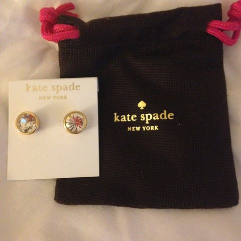 4f89767c02d7 New authentic Kate Spade 16 karat gold earrings including - Depop