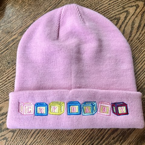 61d02d405aeb4 Pastel pink Crybaby beanie hat from Hot Topic. From the only - Depop