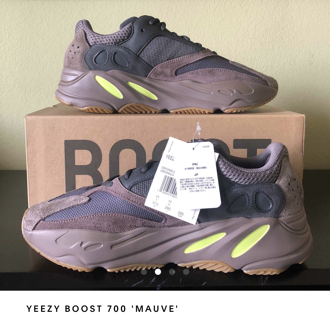 separation shoes 0282e 2b664 In hand ready to ship Yeezy mauve colorway. DS af.... - Depop