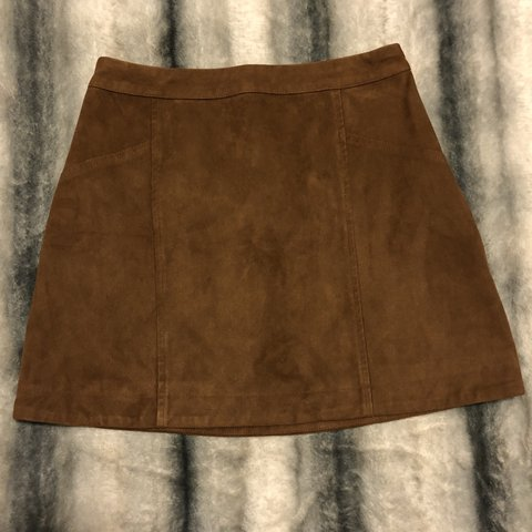 92ceaf20f @mayliv. 11 days ago. Massapequa, United States. Brown suede skirt from  Abercrombie & Fitch