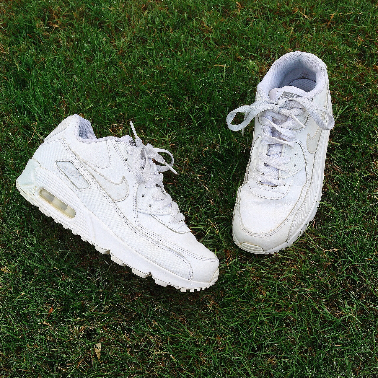 white nike Air Max 90 chunky dad shoes