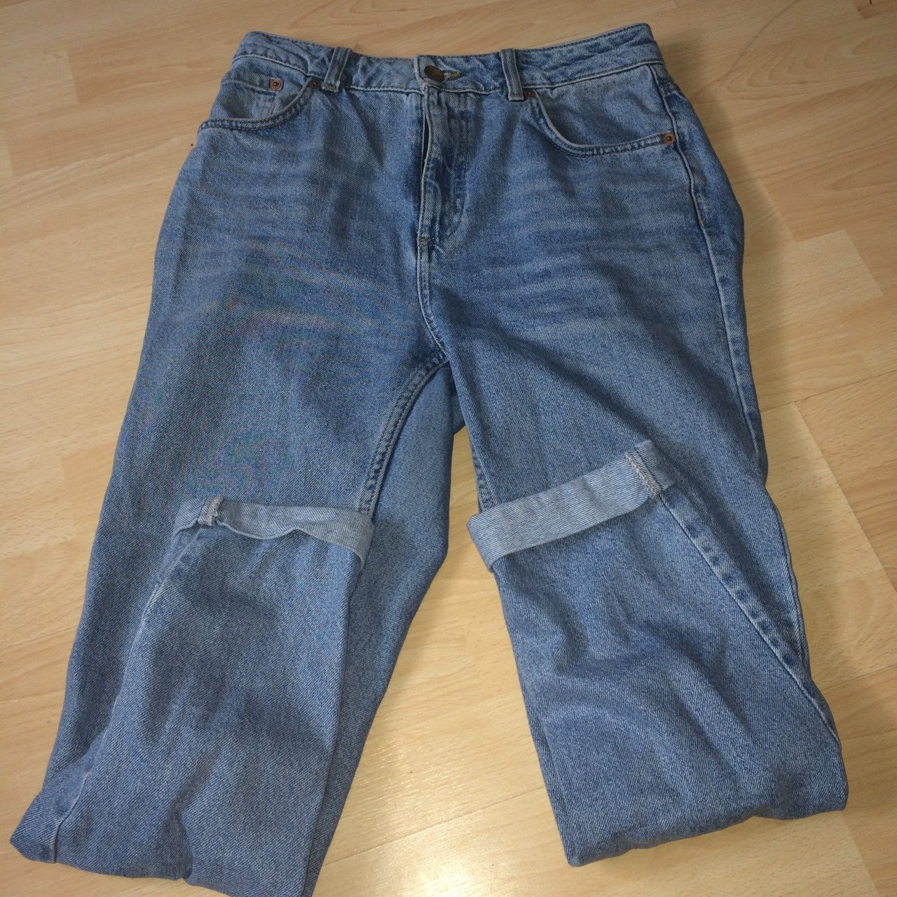 11adcef1c8a Topshop moto mom jeans. Worn