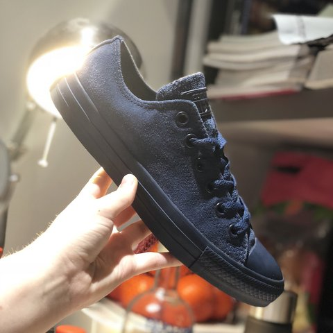 RESERVED   Rare navy blue suede converse. Size uk 5. are - Depop 3623fa64e