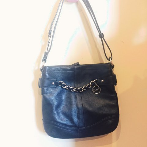 866d19487 ... italy genuine leather coach bag with silver hardware. marked with depop  192cd a257f