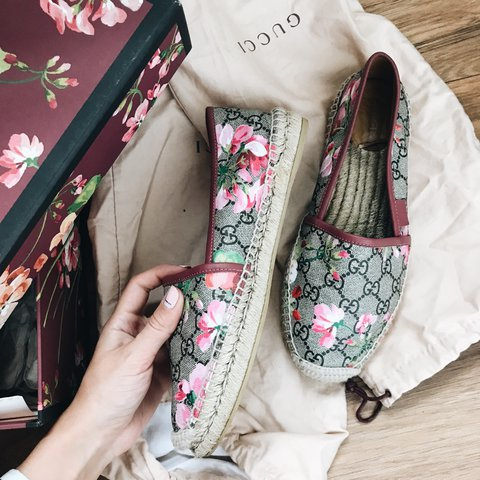1bb9e4f50ad Authentic Gucci bloom espadrilles. Worn a couple of times 5 - Depop