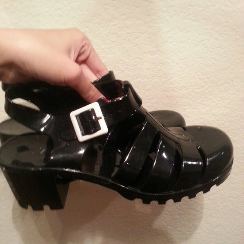 7bab37efb1f  cutiepiewen. 2 years ago. United States. Black and chunky jelly shoes ...