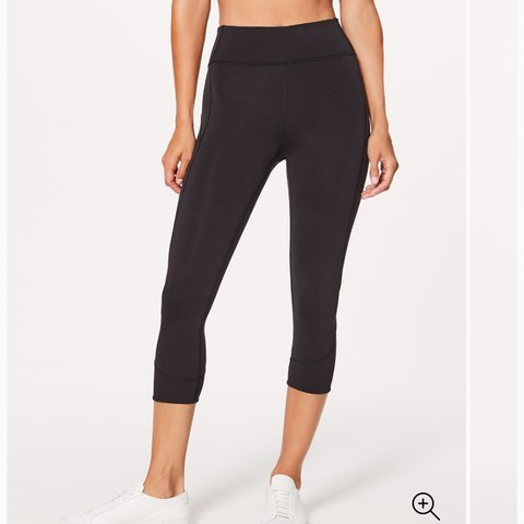 75dca709a1bbd @michaelea. 11 months ago. Seattle, United States. On hold for jmacau20. LULULEMON  Black Capri leggings. Women's size S