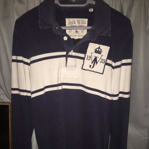 c7f0978897f @jacob14. 2 years ago. Cambridgeshire, United Kingdom. Blue rugby style Jack  Wills long sleeved polo. Very good condition. Men's medium