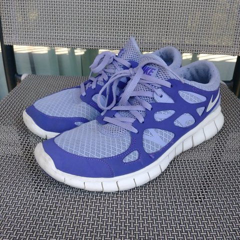 988ed02952d Cute purple Nike free run 2 shoes! They are worn on the and - Depop