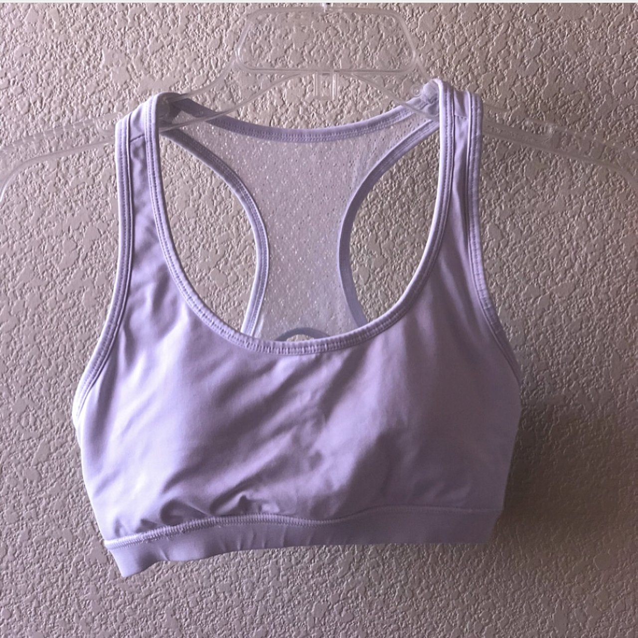 cecf30a2a8 new without tags white sports bra from Forever21 - Depop