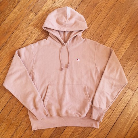 98a029ccab38 Urban Outfitters x Champion Rose Reverse Weave Hoodie 🍯 and - Depop