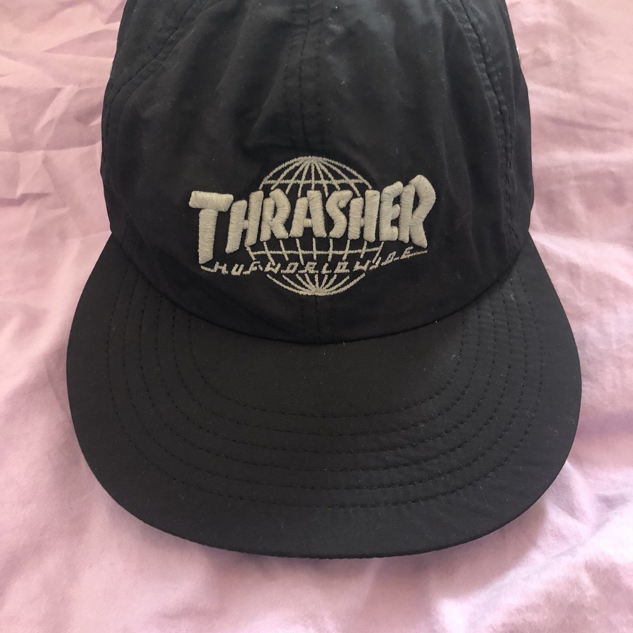 HUF x Thrasher TDS 6 Panel Cap hat - Black . Bought for £40 - Depop e091e286bef