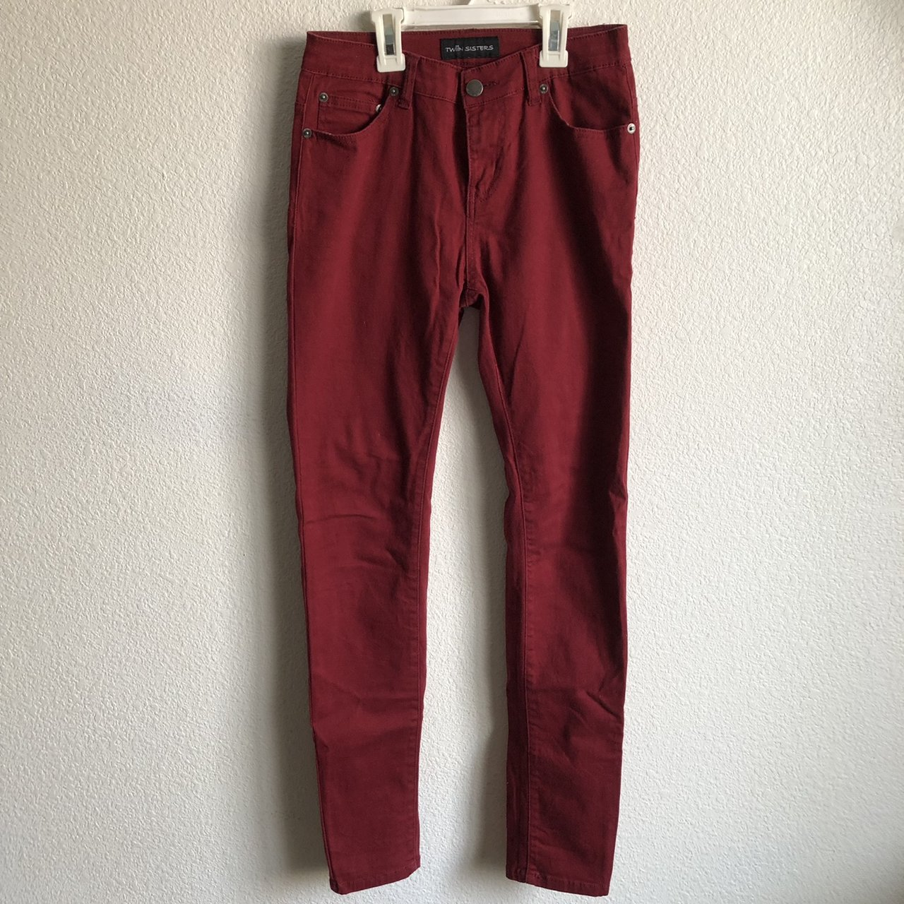 red burgundy maroon colored skinny jeans! would d900200bf258