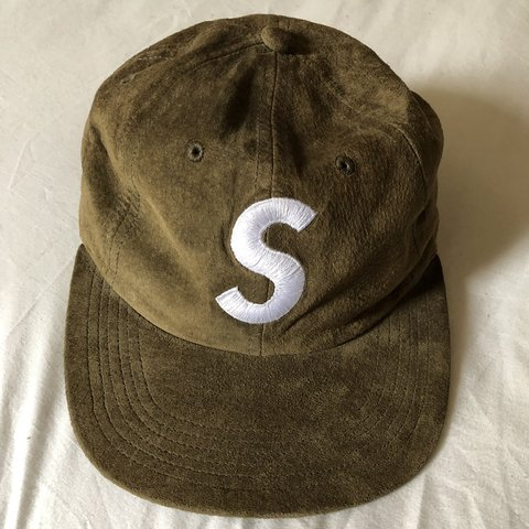 2cf01c9b351 Supreme Suede S Logo Cap (2016) Great Condition- worn rarely - Depop