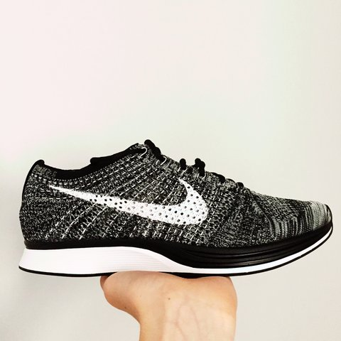 610b670e4f785 Nike Flyknit Racer Oreo 2.0. Never Worn. Looking for a quick - Depop
