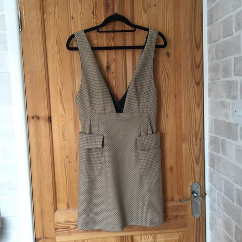 e2ac642e7e0 Burberry style pinafore dress from Zara! Checked print