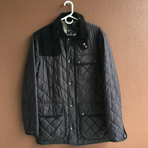 9f622382f668d Gorgeous 🔥 Polo Ralph Lauren black quilted hunting / jacket - Depop