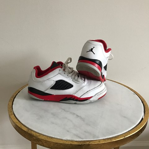 7ffc5245335832 Air Jordan V low kids size 2.5y. Great condition with some - Depop