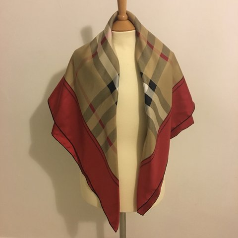 711f4044fbbc GENUINE BURBERRY SILK SCARF. Brand new