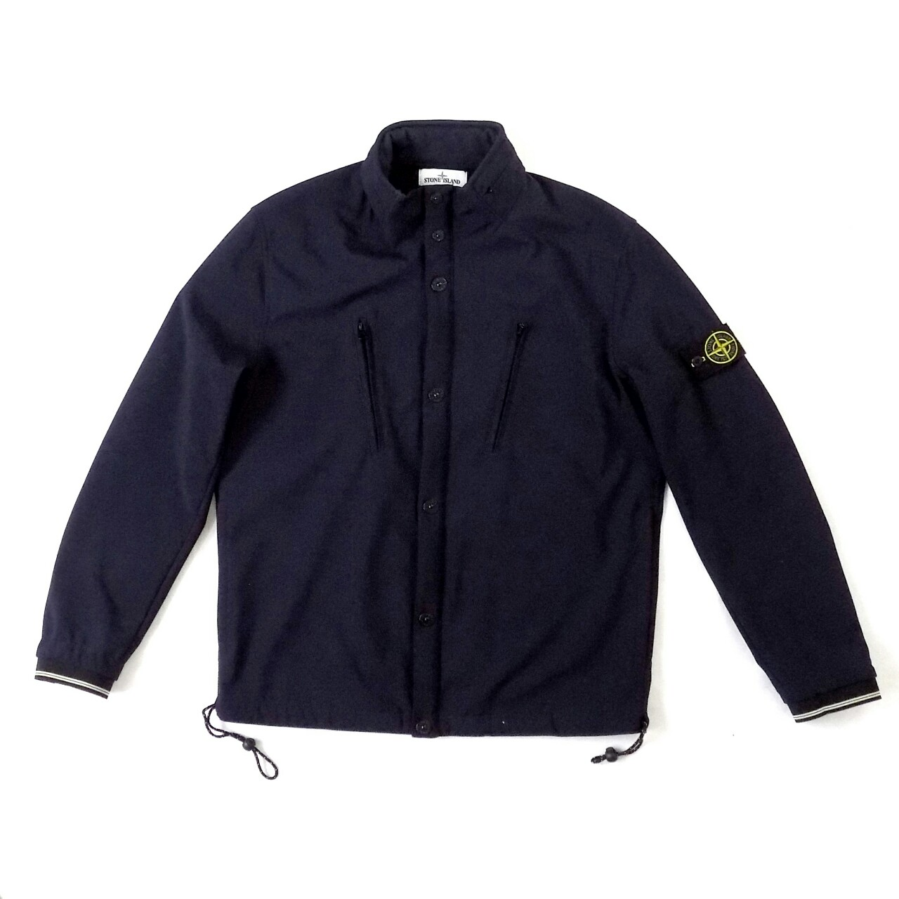 a49e8ae20 Stone Island Soft Shell-R hooded jacket in navy.... - Depop