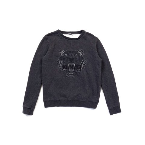 554c6e37 Kenzo Paris sweatshirt in grey. Iconic front logo Size Age - Depop