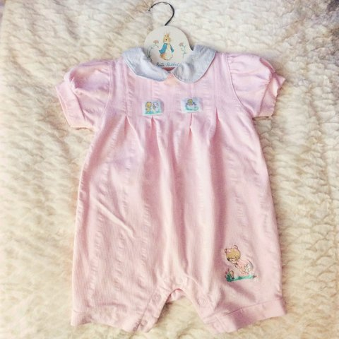 b8568f135fe0 💖for children💖Like new pastel pink baby romper. This is a - Depop
