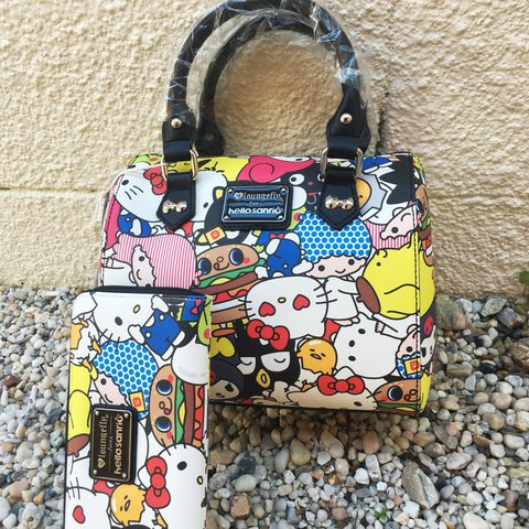 f42c6cfacd SANRIO X LOUNGEFLY VEGAN BOWLER BAG Features hello kitty