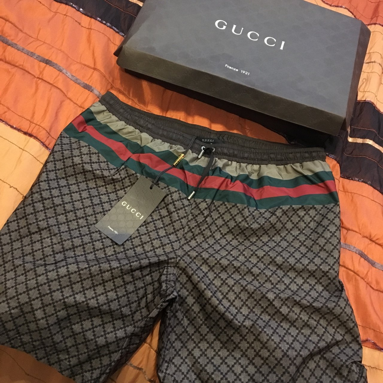 8a5d36ff28 RECEIPT, TAGS AND BRAND NEW! Selling my XL Gucci Swim Shorts - Depop