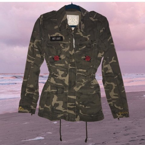 8fbce6b975f61 @punk_puke. in 5 hours. Foley, United States. Grunge Get Lost Patched Army  Jacket: ...
