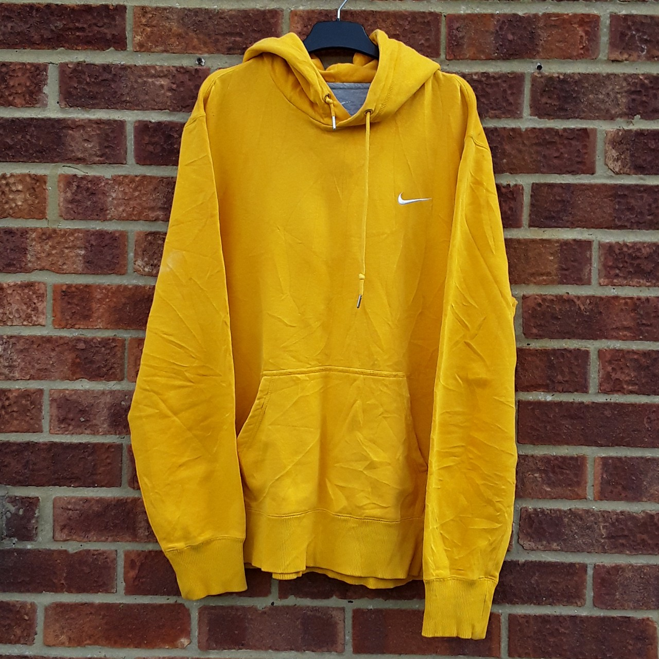 outlet store cheap price first look Plain mustard yellow Nike hoodie. Great quality and... - Depop