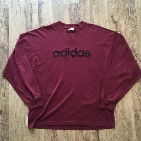 e541471b5 @vintagejamieson. 11 months ago. Warrington, United Kingdom. Vintage 90's  Adidas spell out long sleeve t-shirt. Men's size medium, fits oversized and  ...