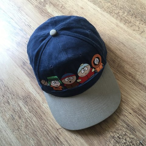 33099f5264d Vintage 1998 South Park baseball cap. Embroidered characters - Depop