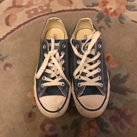 6bef72e7921cfb Navy Blue Low Top Canvas Chuck Taylor All Star Converse - 5. - Depop