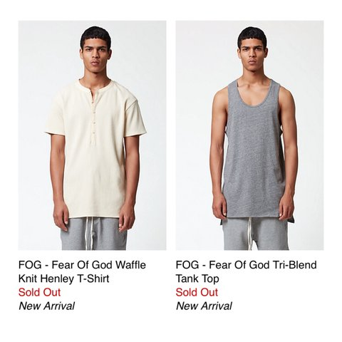 d3f8643e5bcde Have the FOG x PacSun Henley (Size M)   Tank Top (Size M) . - Depop