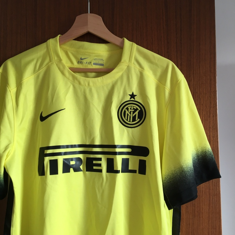 new style dfca1 655a2 Nike Inter Milan third kit 2015-16 in neon yellow.... - Depop