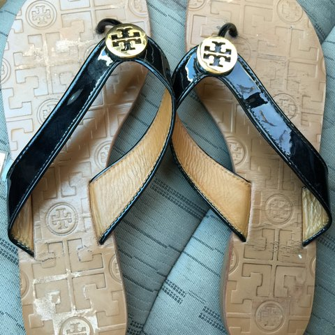 c3b6c95f2eb8 Tory Burch Thora Sandals. Size 7. They run small. Will fit 6 - Depop
