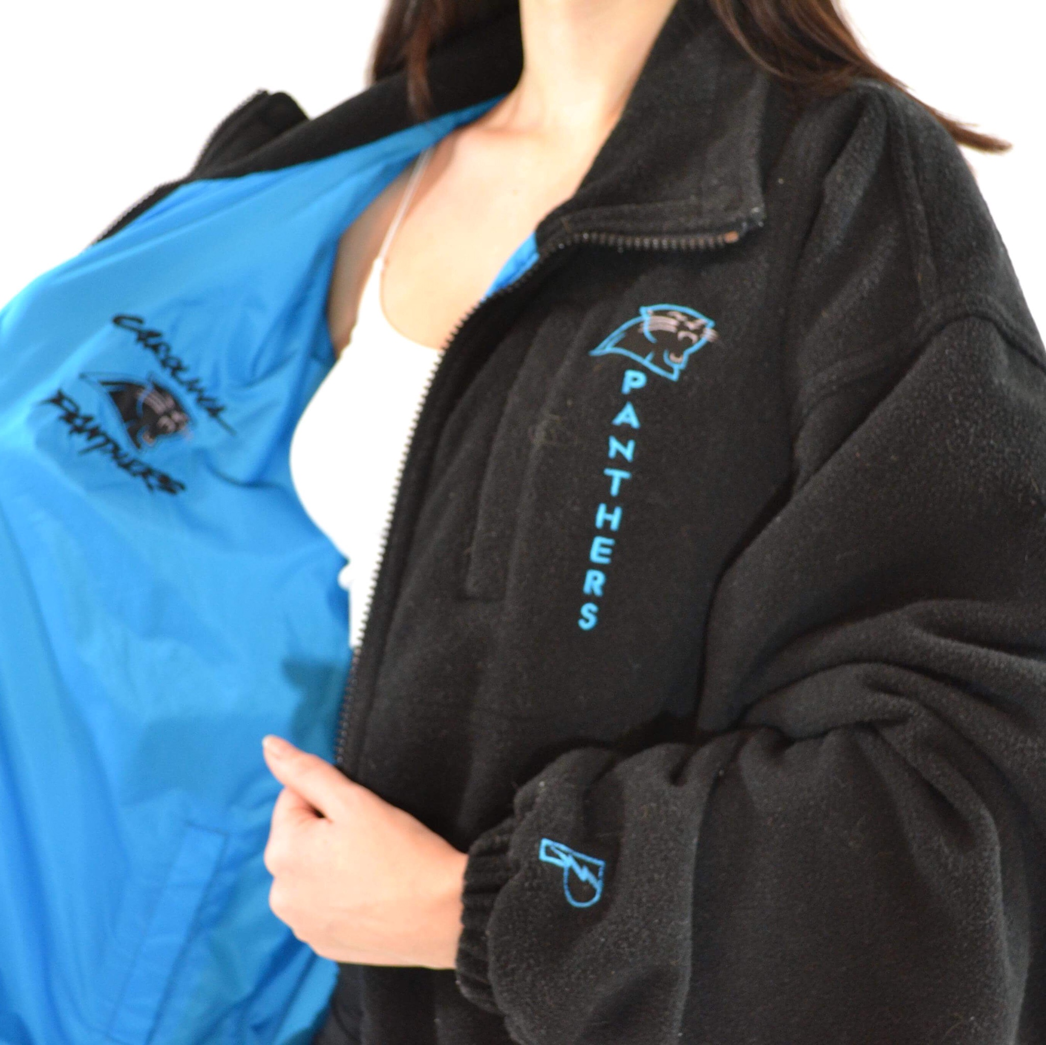 san francisco 4ae08 fce95 Carolina panthers reversible jacket! One side is a... - Depop