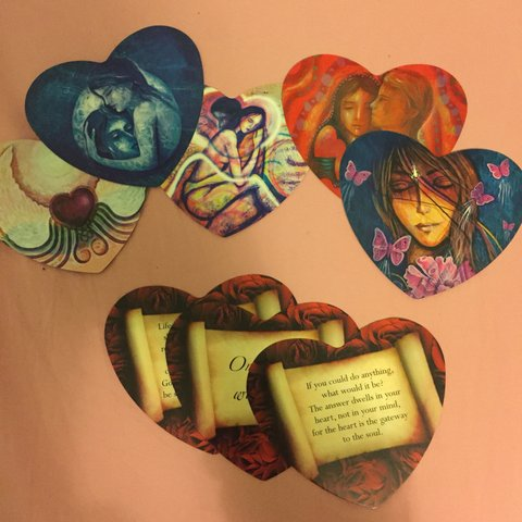 Beautiful Lovers Oracle Heart Shaped Fortune Telling Cards Depop