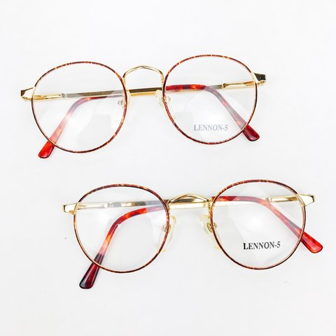 dce49f9124 100% Authentic vintage thin metal glasses frame with shell - Depop
