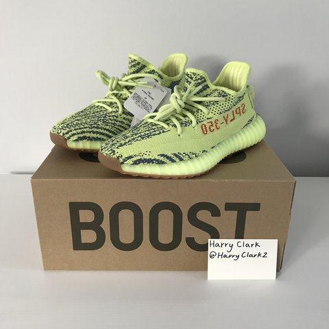 c71c228e983cd Adidas Yeezy Boost 350 V2 -Semi-Frozen Yellow Zebra- The a - Depop