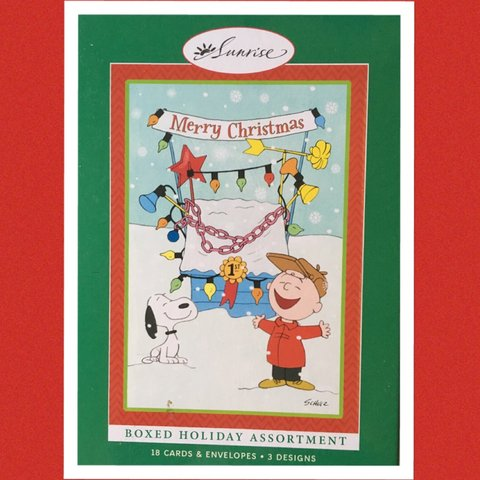 snoopy peanuts themed christmas cards 18 cards with depop
