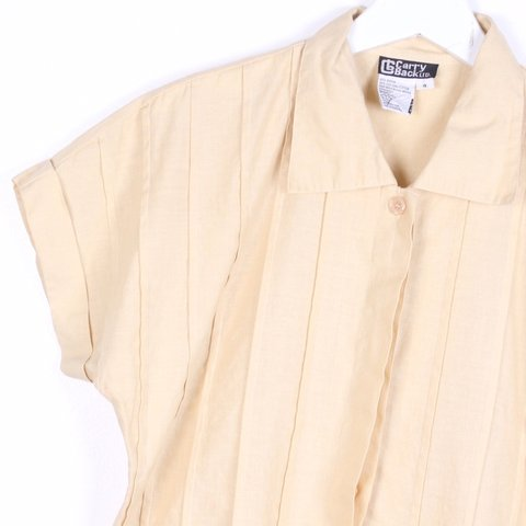 5e2d59d3 @twitchvintage. in 4 hours. New York, United States. Vintage classic blouse.  Beige ...