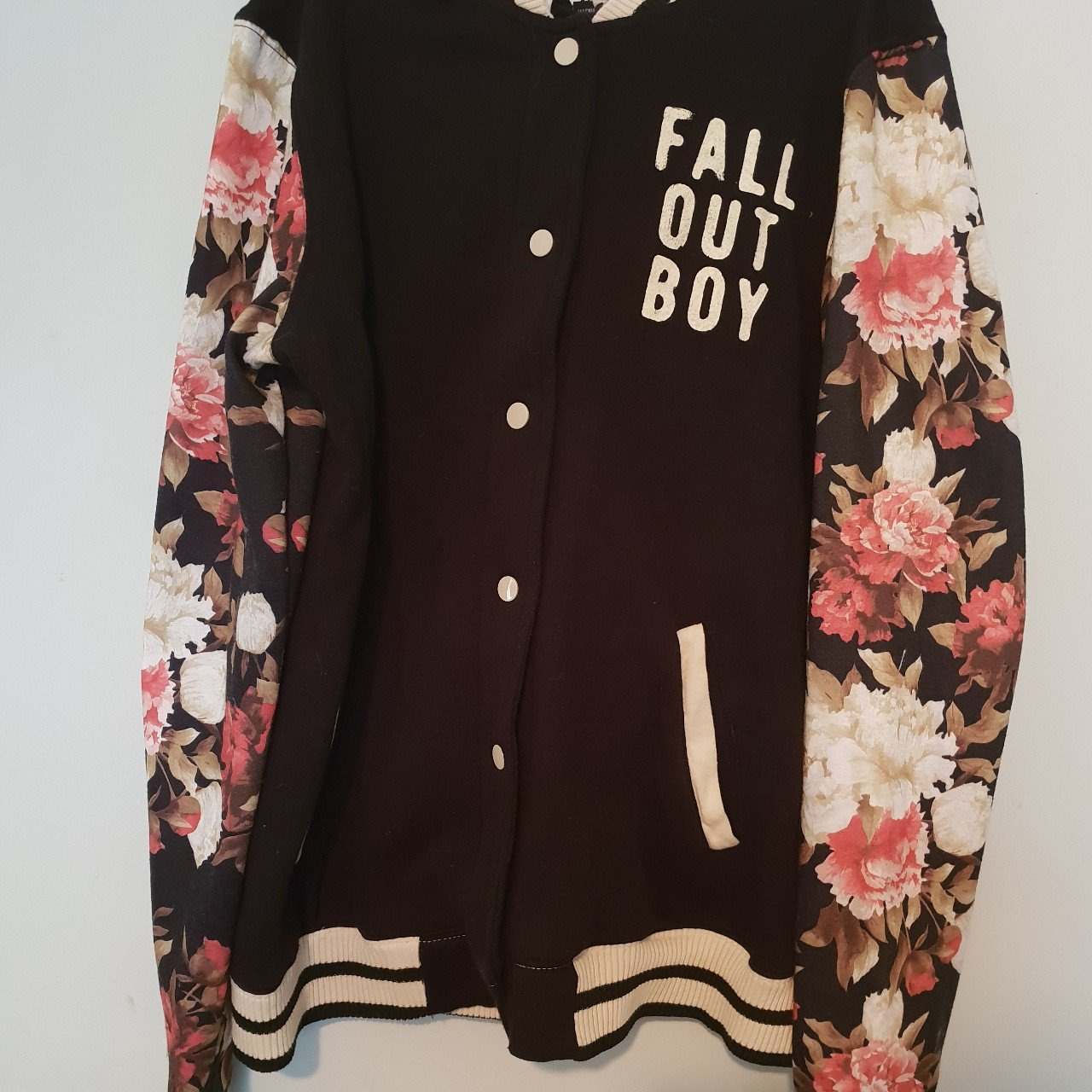 6b678d899 🖤 authentic fall out boy floral varsity jacket 🖤 NWOT