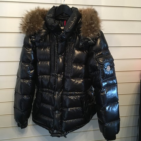 ... moncler rod down quilted jacket with removable raccoon fur depop