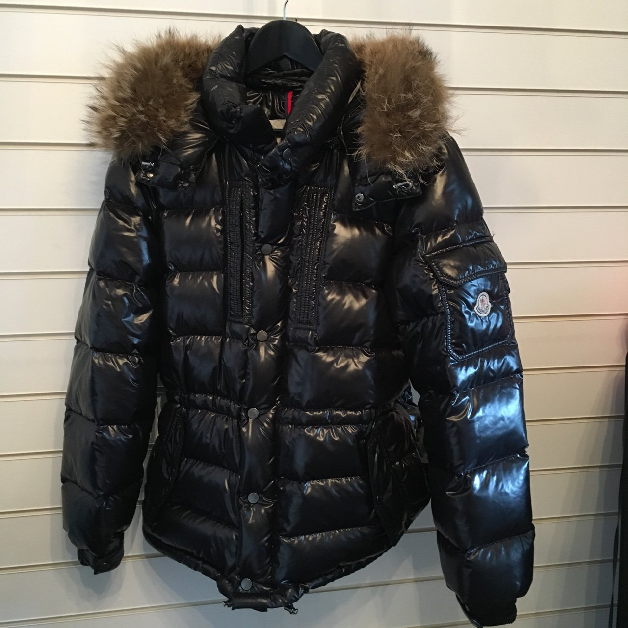 7aaf3ce92 @christieefn. 3 years ago. Leeds, UK. Moncler Rod Down Quilted Jacket with  removable Raccoon fur hood ...